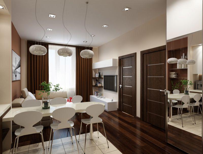 Оригинальный ремонт однокомнатной квартиры: фото, дизайн, приёмы