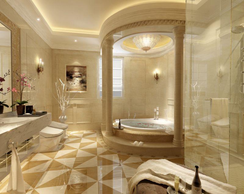 Очень красивый ремонт в ванной комнате