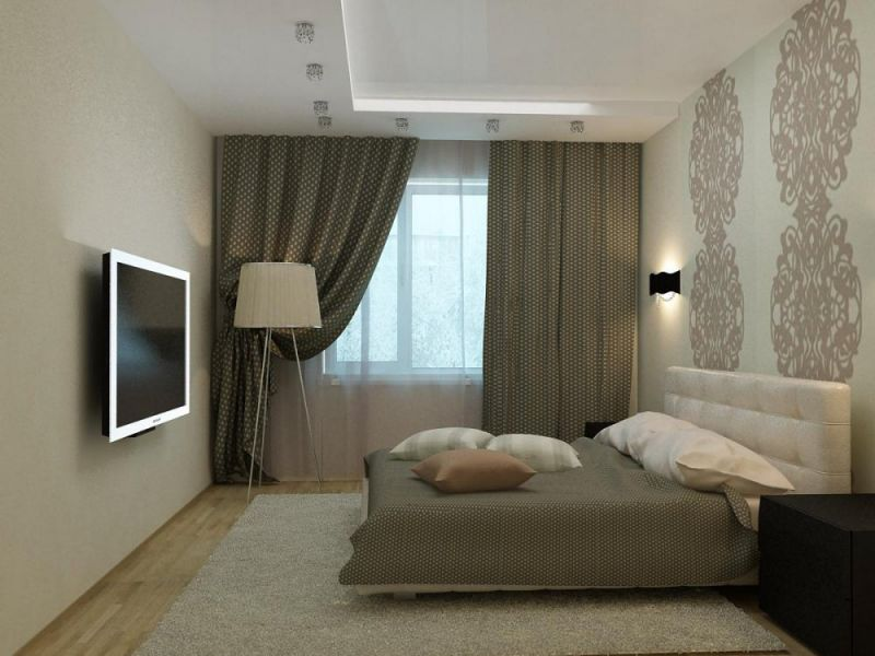 Ремонт в спальне 12 кв м фото