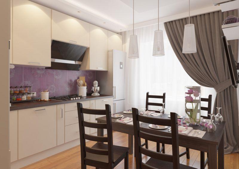 Ремонт кухни фото 12 кв метров