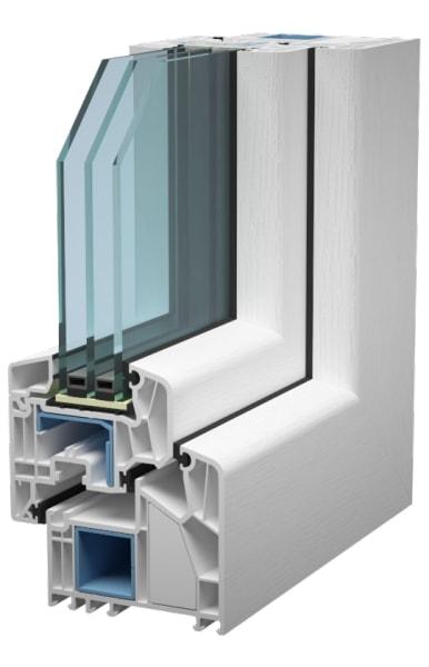 высококачественные энергоэффективные пластиковые окна серия alphaline